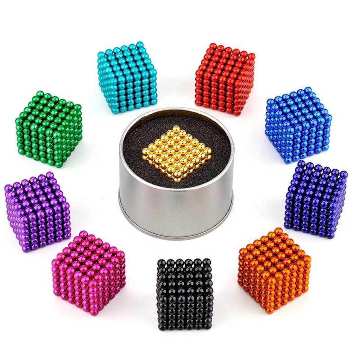 GOLD Neocube 216 Magnet Würfel Neodym Kugelmagnet DIY K... 5mm Neo Ball Cube
